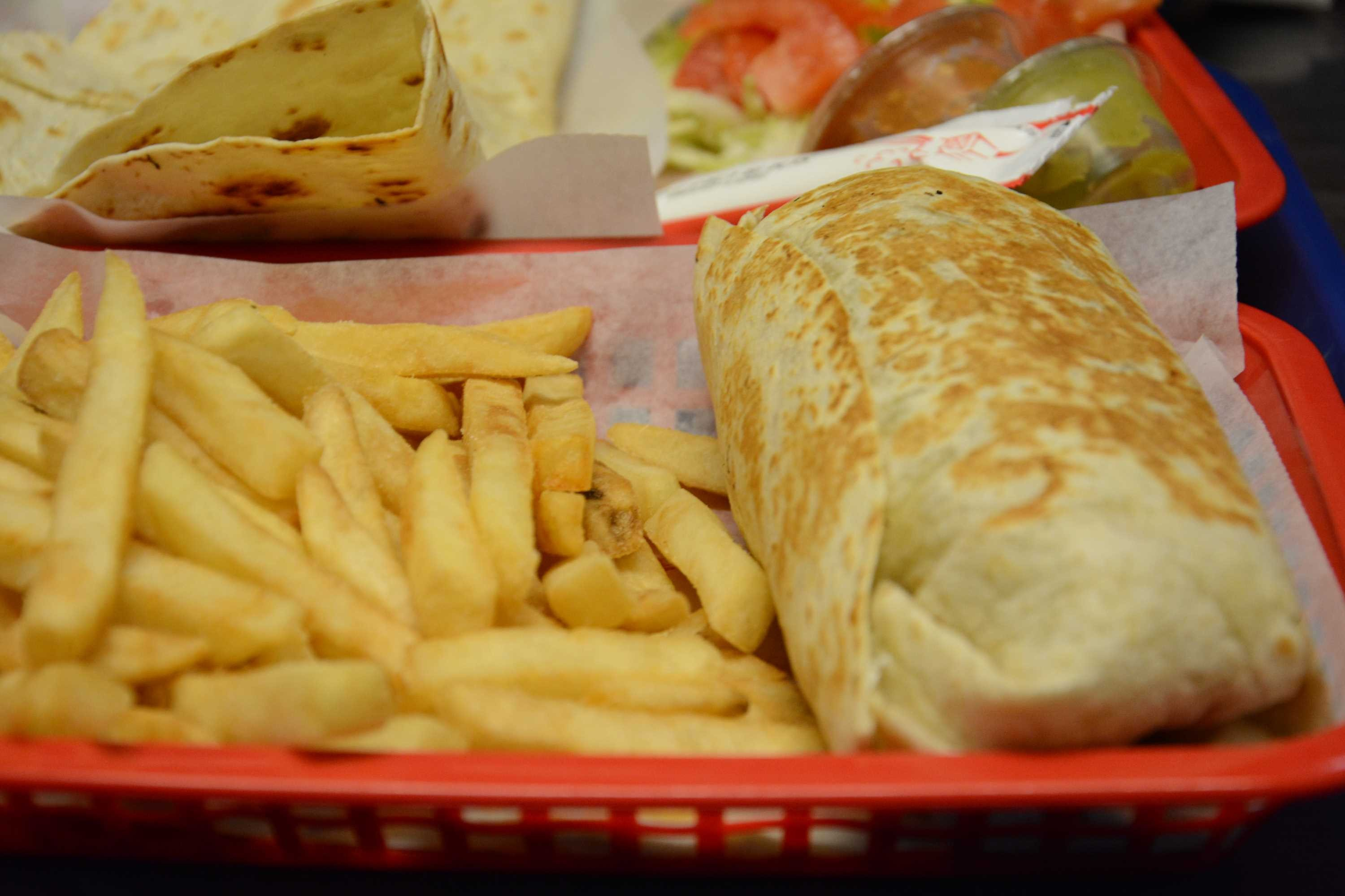 Burrito with Fries